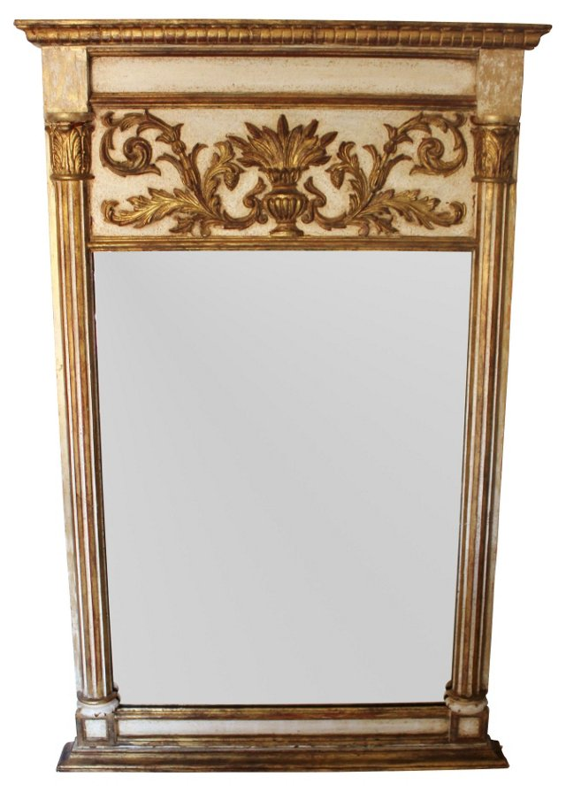 1940s Italian Trumeau Mirror