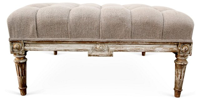 French Tufted   Ottoman