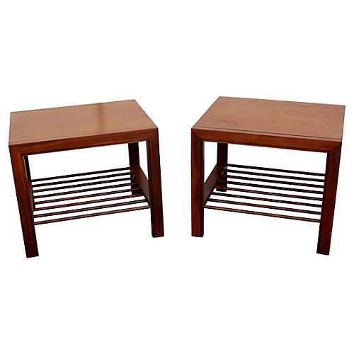 1960s Baker Furniture Side Tables, S/2