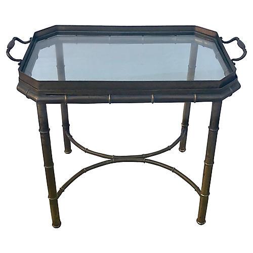 Mastercraft Bamboo-Style Tray Table