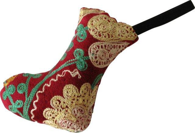 Red Velvet Suzani Ornament
