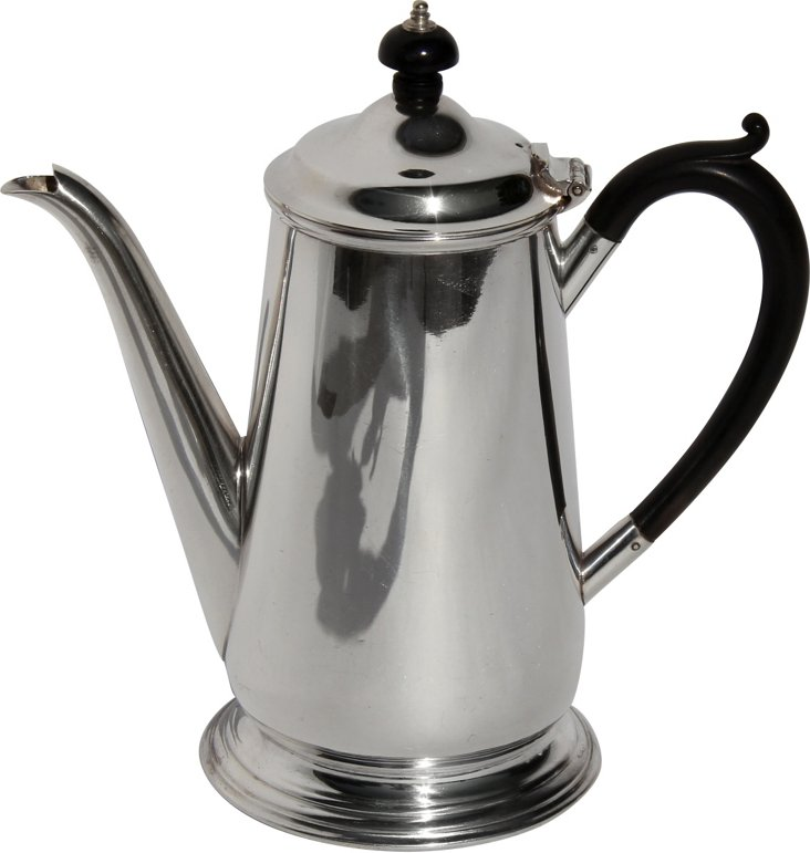 English Coffee  Pot, C. 1865