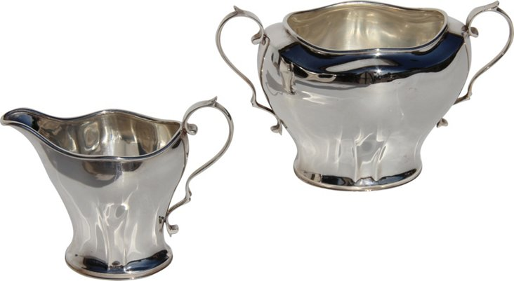 Silverplate Sugar & Creamer, 1873