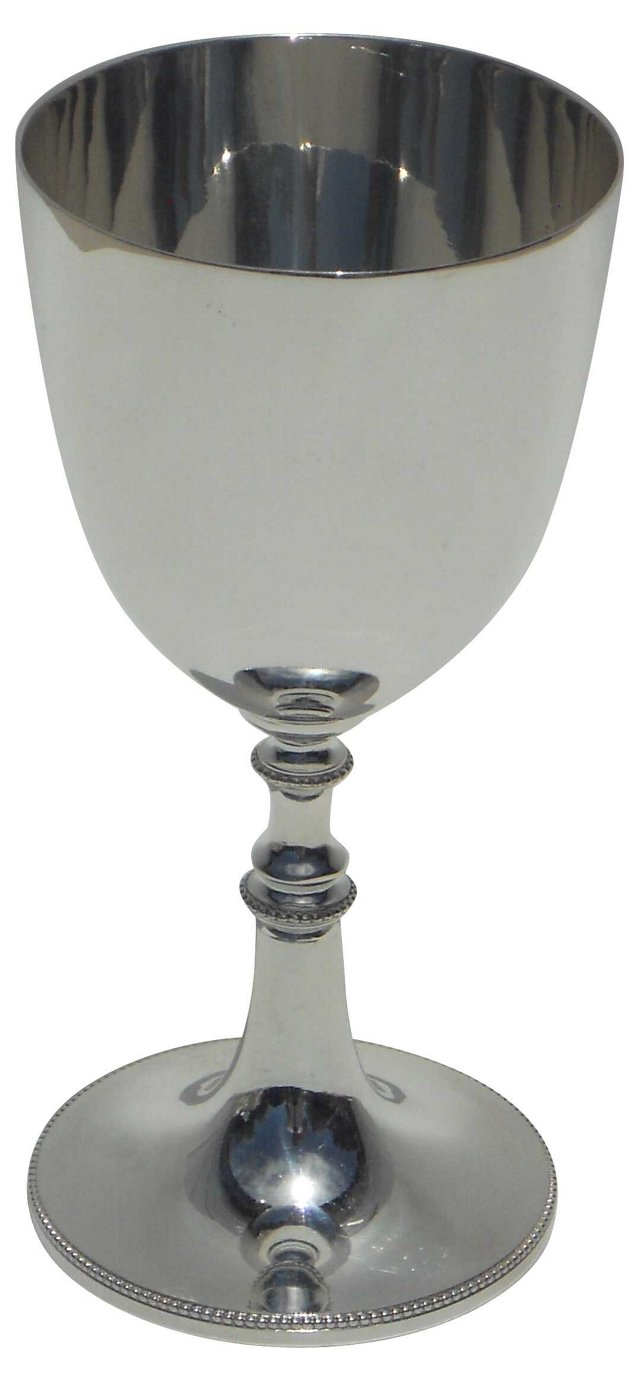 "English 7"" Plain Goblet, C. 1870"