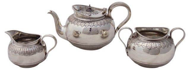 English Tea Set, C. 1860, 3 Pcs