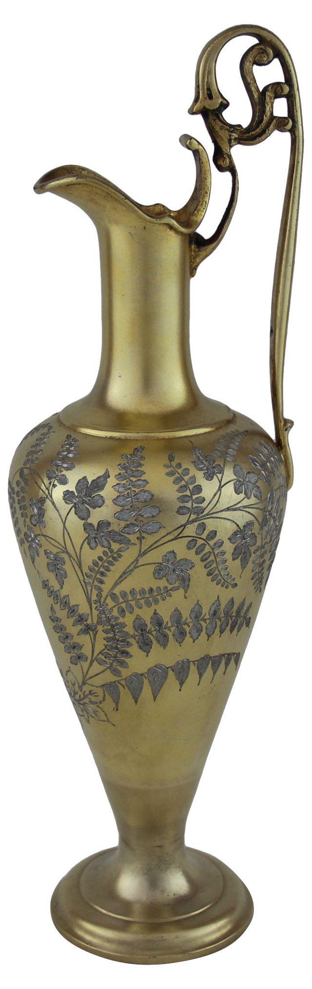 English Gold Vermeil Ewer, C. 1860