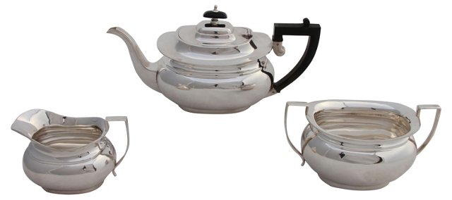 English Tea Set, C. 1885, 3  Pcs