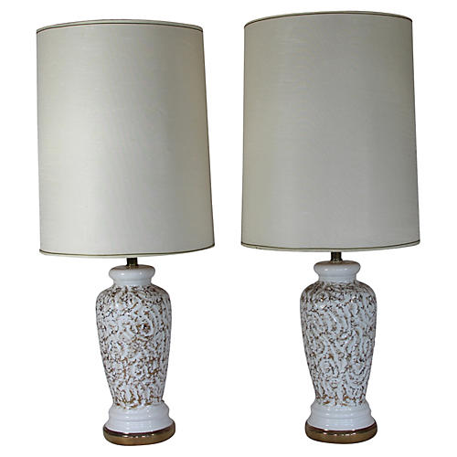 California Pottery Pr Lamps,rewired USA