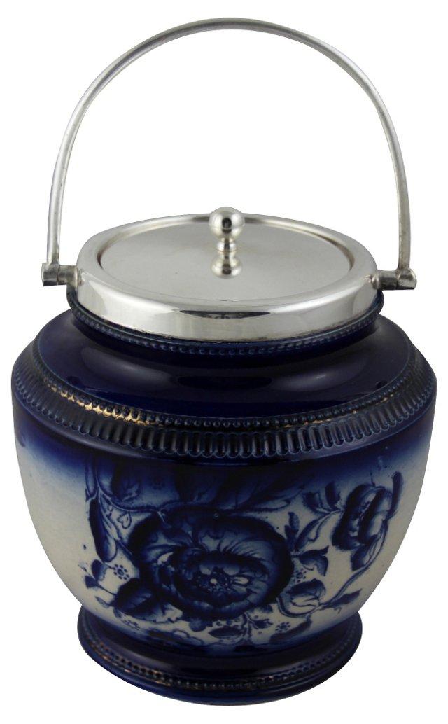 Blue & White Porcelain Barrel, C. 1880