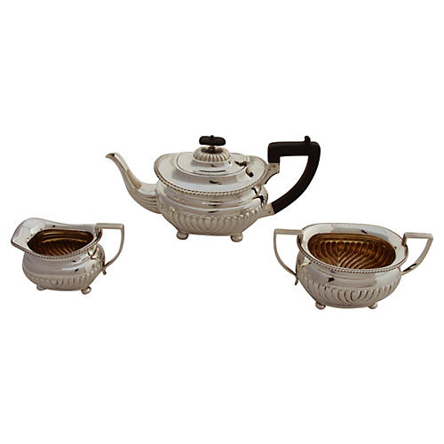 C. 1875 English Tea Set, 3 Pcs