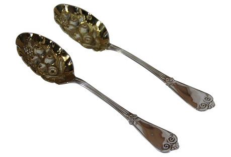 C. 1895 Tiffany & Co. Spoons, Pair