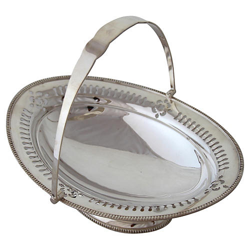 Oval Pierced English Basket, C. 1885