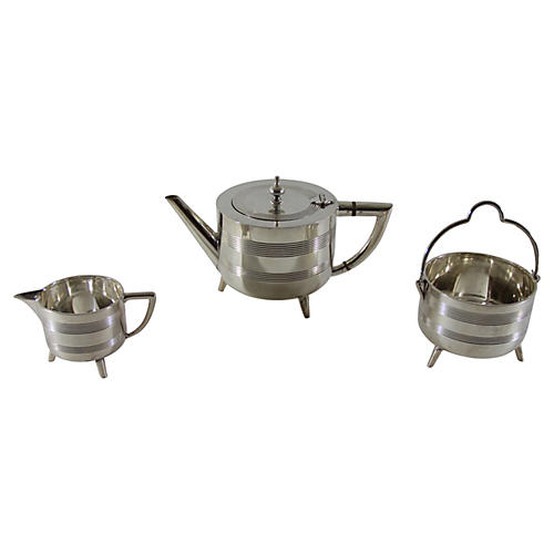 Deco Tea Set, 3-Pcs, C.1920