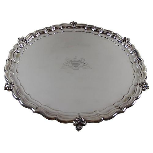 "Round 22"" Crested English Tray c.1870"