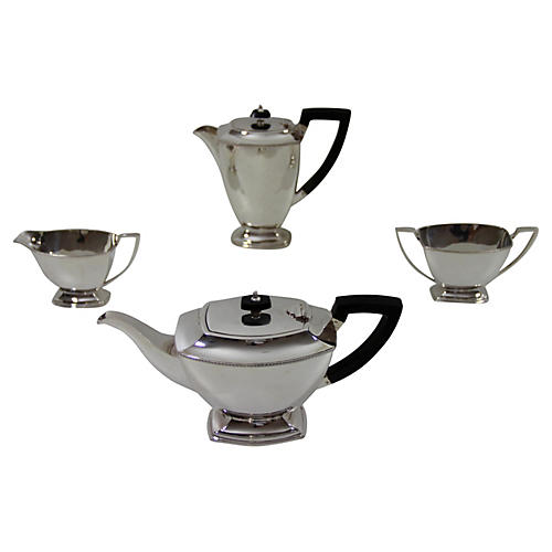 English Tea & Coffee Set, 4 Pcs