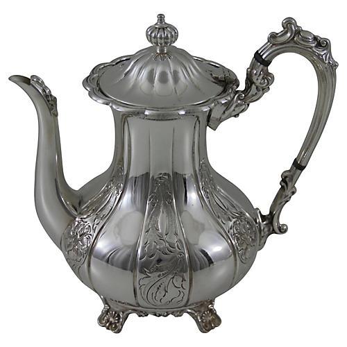 English Silver-Plate Coffeepot, C.1900