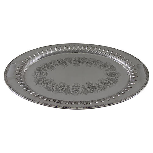 Oval Engraved English Tray, C.1885
