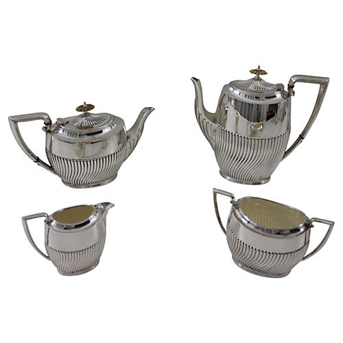 C. 1890 English Tea & Coffee Set, 4 Pcs