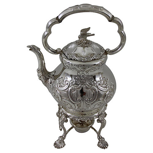 English Kettle on Stand, C.1880
