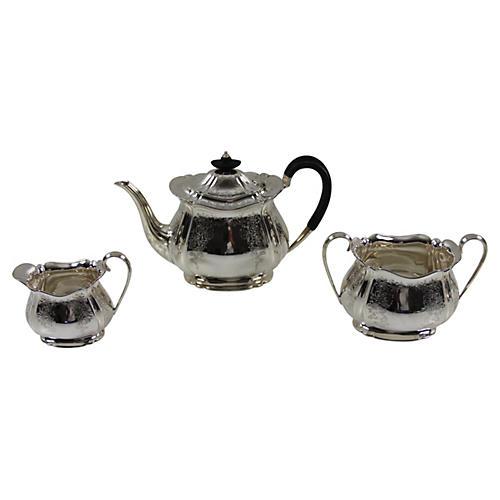 3-Pc English Tea Set, C. 1880