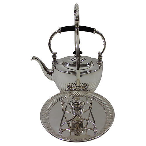 English Large Kettle w/Stand, C. 1885