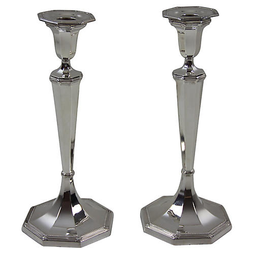 C. 1890 English Candlesticks, Pair