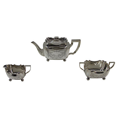 English Tea Set, 3-Pcs, C. 1885
