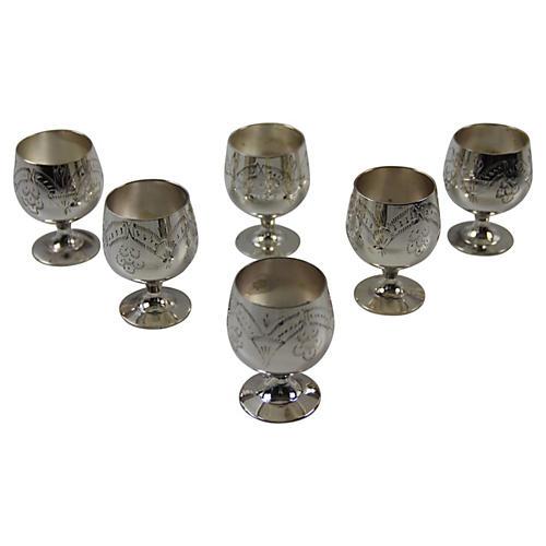 C. 1960 Indian Liquor Cups, S/6