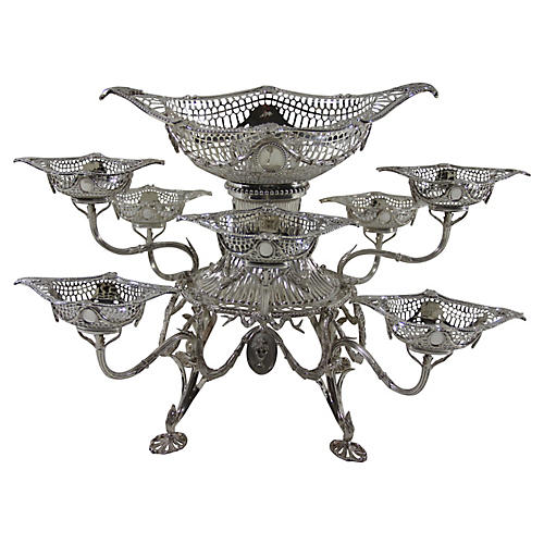 Sterling Silver Epergne, 9 Pcs