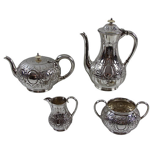 English Tea & Coffee Set, C. 1880