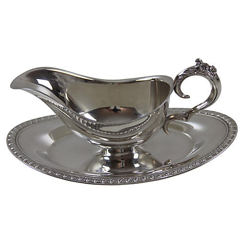 American Sauce Boat on Fixed Tray C.1960