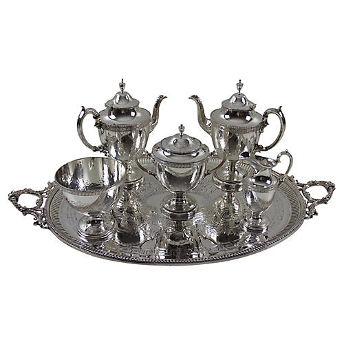 1860s Elkington Tea Set, 6-Pc