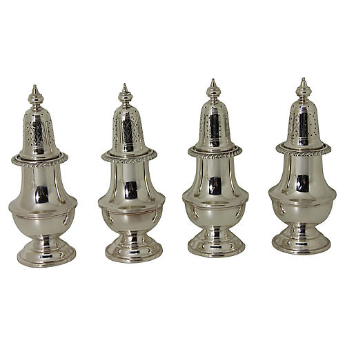 Sterling Silver Shakers, S/4