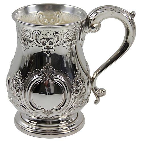Extra-Large English Chased Mug, C.1860