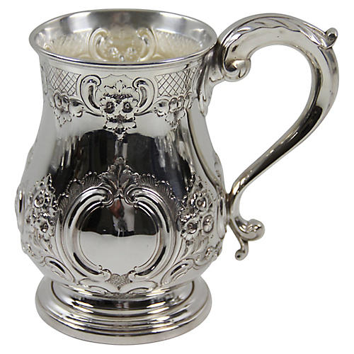 Extra-Large English Chased Mug, C.1860