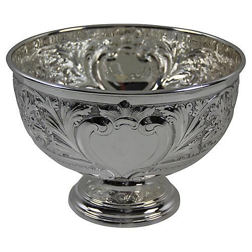Silver-Plate Repoussé Bowl, C.1880