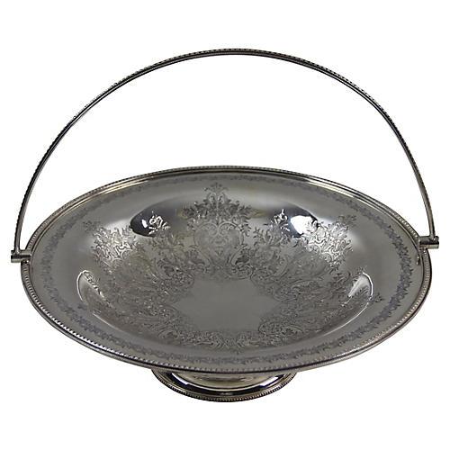 Silver-Plate Cake Basket, C. 1865