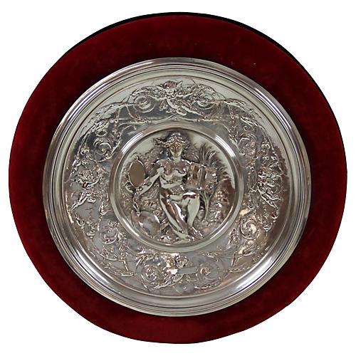 Elkington Silver-Plate Plaque