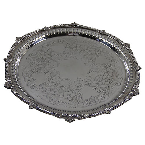 Silver-Plate Platter, C. 1900