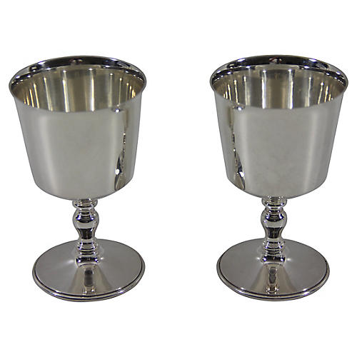 Silver-Plate Goblets, Pair