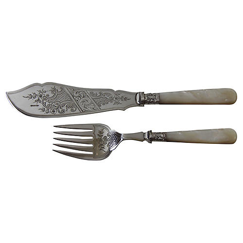 Silver-Plate Fish Servers, C.1860