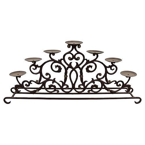 7 Pillar Table or Fireplace Candelabra