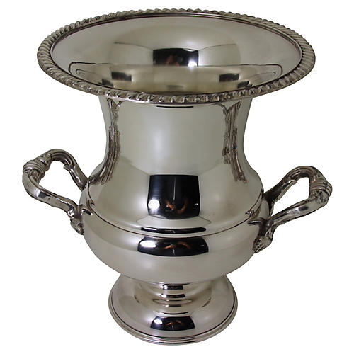 English Silver-Plate Wine Cooler, C.1950