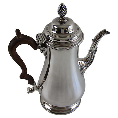 Georgian Style Silver-Plated Coffee Pot