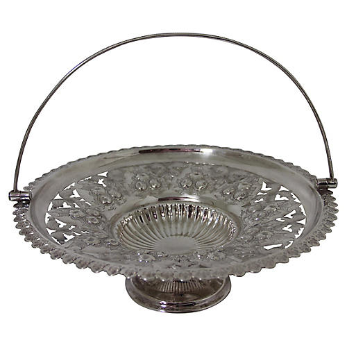 Elaborate Pierced Round Basket