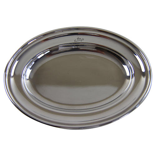 Connaught Silver-Plated Oval Platter
