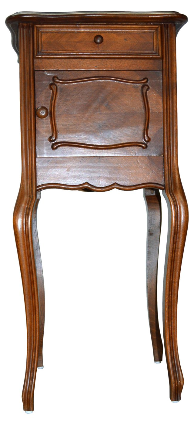 French Nightstand w/ Marble Top, C. 1870
