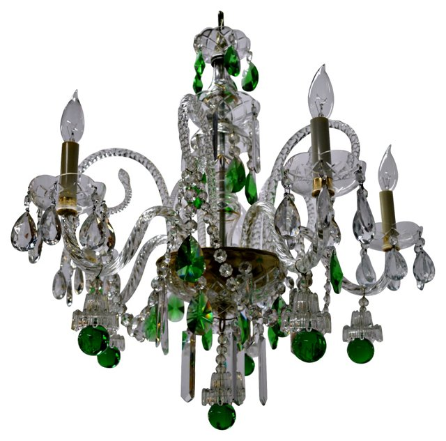 Green & Clear Baccarat Chandelier