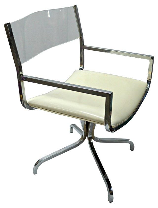 Lucite-Back Desk Chair