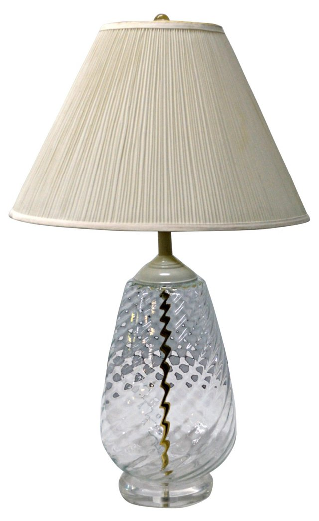 Twisted Glass Lamp